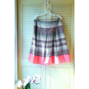 Charter Club | 100% Cotton A-Line Navy Coral Skirt